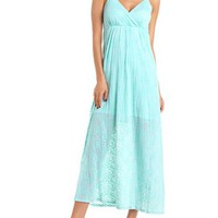 Burnout Surplice Maxi Dress: Charlotte Russe