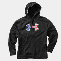 Men's Big Flag Logo Tackle Twill Fleece Hoody | 1213002 | Under Armour US