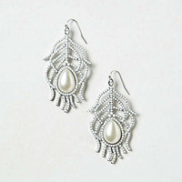 Anthropologie - Arctic Feather Earrings