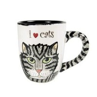 Amazon.com: Rescue Me Now Gray Tabby Cat Mug, 4-1/4-Inch Tall, Pavilion Gift: Kitchen & Dining