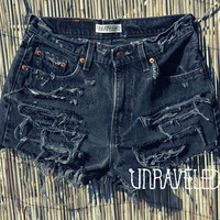 Black High Waisted Levis (SMALL)