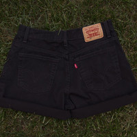 Black High Waisted Levi's
