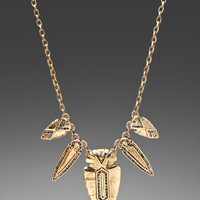 HOUSE OF HARLOW Five Station Pave Arrowhead Necklace in Gold at Revolve Clothing - Free Shipping!