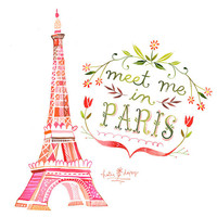 Meet Me in Paris - 8x10 print