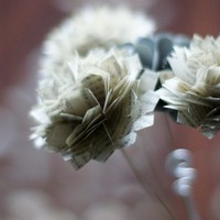 Tell Me A Story- Four Paper Sculpted Carnations   MyBohemianSummer - Floral on ArtFire