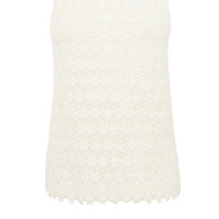 Lace Collar Sleeveless Top