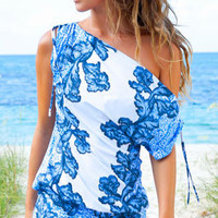 Sauvage Luxe 2013: Bali Blue Beachwear Coverup Tunic 3715BAL | Swimwear Boutique