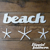 Beach Wooden Sign