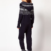 OnePiece Nordic Pattern Extra Cosy Onesuit
