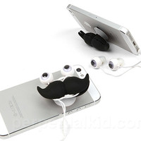 MUSTACHE EAR BUDS, STAND &amp;amp; CORD WRAP