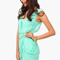 All Chained Up Dress - Mint
