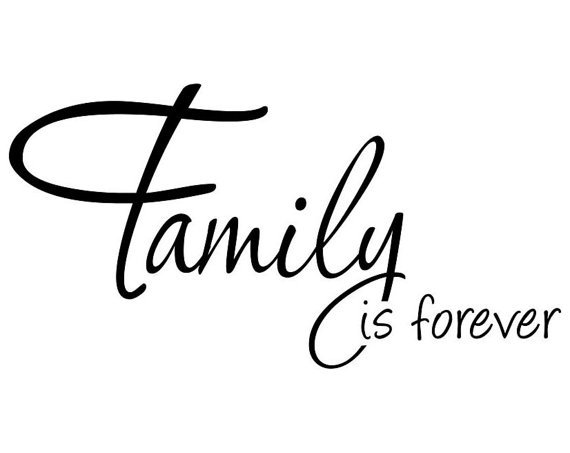 family is forever wall decal wall sticker from abeo designs. Black Bedroom Furniture Sets. Home Design Ideas