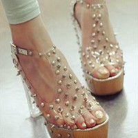 Spikes High Heel Shoes (Sliver) from TheSOUL-ERS
