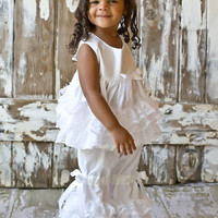 Ruffles Galore White Bloomer Set