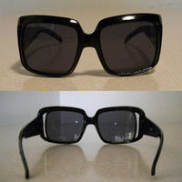 Square Sunglasses Black Sunglasses 60s Sunglasses Womens Sunglasses Eyewear Shades Oversized Sunglasses 60s Mod Black Framed Glasses Mad Men
