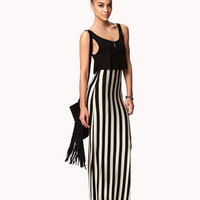 Vertical Striped Maxi Dress