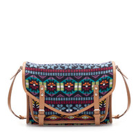MULTICOLORED FABRIC MESSENGER BAG - TRF - New this week - ZARA United States