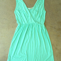 Sweet Summer Walks Dress in Mint [2940] - $32.00 : Vintage Inspired Clothing &amp; Affordable Fall Frocks, deloom | Modern. Vintage. Crafted.