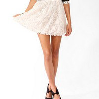 Scalloped Lace Skater Skirt