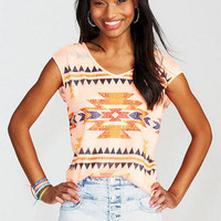 Stud Aztec Bar Back Short-Sleeve