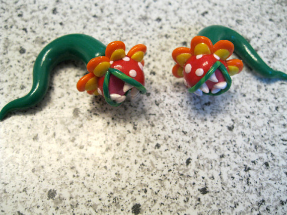 Super Mario Sunshine Petey Piranha Ear Gauges