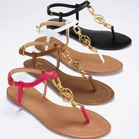 Monogram Flat Sandal