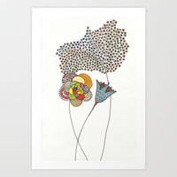 Spring Flowers Art Print by Anita Ivancenko