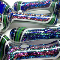 Glass Pipe, Dichro Wig Wag Glass Pipe, READY to SHIP Paul Brehm, Hand Blown Pipes, Cgge Team,
