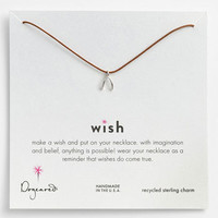 Dogeared 'Wish' Wishbone Charm Necklace | Nordstrom