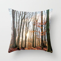 Sunny winter day Throw Pillow by Pirmin Nohr