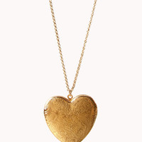 Oversized Heart Locket Necklace | FOREVER 21 - 1055811165