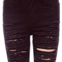 Destroyed Skinny Jeans in Black :: tobi