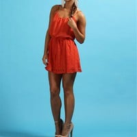 Coral Orange Lace Dresses