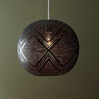 Perforated Globe Pendant - Diamond