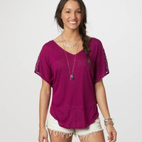 AE Crochet Back Tee | American Eagle Outfitters