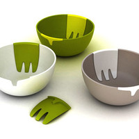 Hands On Salad Bowl by Pengelly Design for Joseph Joseph - Free Shipping