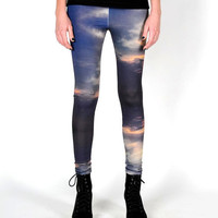 CLOUDS patternWoman ECO friendly BAMBOO leggings by DreamNation
