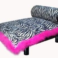 Amazon.com: Modern Luxury Zebra Print Suite Pet Bed, Also Small Dog Bed, Small Pet Bed, Luxury Dog Bed, Luxury Pet Bed, Fancy Dog Bed, Fancy Cat Bed, Dog Furniture, Cat Furniture, Posh Dog: Pet Supplies