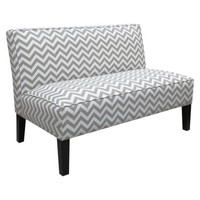 Zig Zag Armless Settee - Gray