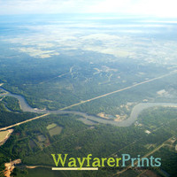 Texan Landscape Photography - sky views from above nature texas trees rivers beautiful photography print wall decor 5x5 5x7 8x10 10x10 11x14