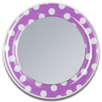 Purple Polka Dot Magnetic Locker Mirror