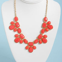 Gem Class Coral Statement Necklace