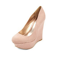 Round-Toe Sueded Wedge: Charlotte Russe