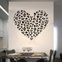 Amazon.com: Cheetah Spot Print Heart Removable Wall Art Decal Sticker Decor Mural DIY Vinyl Décor Room Home: Home & Kitchen
