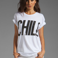Lovers + Friends Chill Graphic Tee in White from REVOLVEclothing.com