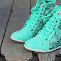 Lush Meadows Lace Sneakers, Sweet Rugged Boots