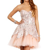 Carrie- Multi/Peach Prom Dress