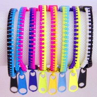 Neon Zipper  Bracelet