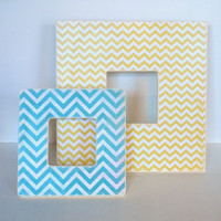 Teal Chevron Picture Frame by Mmim on Etsy