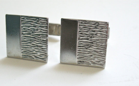 Vintage Silver Cufflinks signed Hathaway Square by NewToYouJewelry